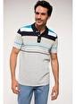 DeFacto Çizgili Polo T-shirt Gri